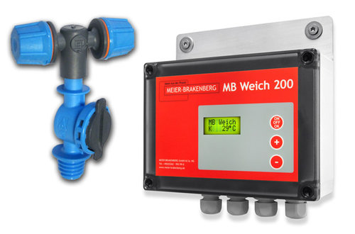 These special cooling nozzles in connection with the illustrated soaking and cooling control unit MBWeich 200 achieve best possible cooling results.
