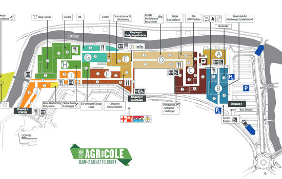The exclusive service and marketing partner: Company Agrodel will be exhibit in block F2 at trade show Foire Agricole. Here you can see the complete hall plan.
