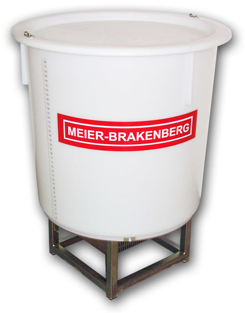 The mixing tank of Meier-Brakenberg has a rotary pump underneath the tank which gently mixes and circulates the medium. In contrary to common agitators there is no foaming since air inclusion is prevented.